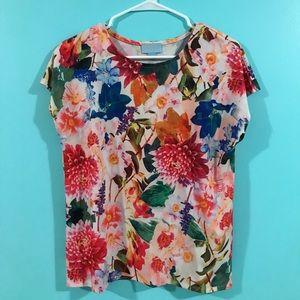 CeCe floral blouse